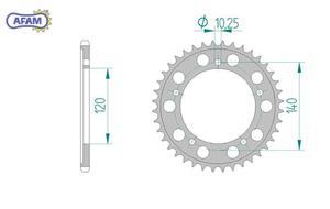 Zębatka AFAM tylna aluminiowa 15605-47 - 2848053396