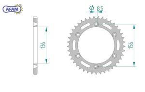 Zębatka AFAM samoczyszcząca SLK 14206SLK+50 - 2848053417