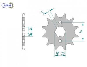 Zębatka AFAM przednia 20321-12 PS - 2848053446