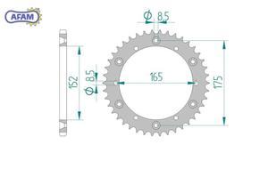Zębatka AFAM tylna stalowa 12500-42 - 2848053468