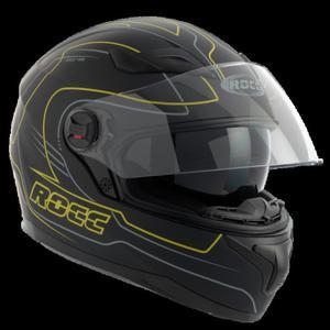 Kask motocyklowy ROCC 491 czarno-żółty mat L - 2848053506