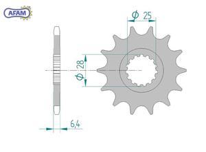 Zębatka AFAM przednia 21608-13 - 2848053518