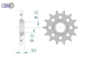 Zębatka AFAM przednia 21603-14 - 2848054173