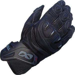Rękawiczki skórzane Lookwell Rush GP czarne - 2848054264