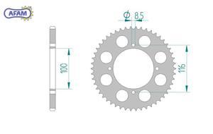 Zębatka AFAM tylna aluminiowa 17104+51 - 2848055301