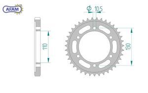 Zębatka AFAM tylna stalowa 16502-45 - 2848055333