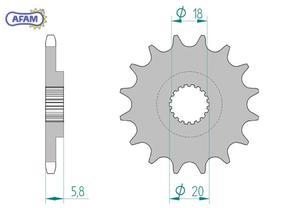 Zębatka AFAM przednia 61202-18 - 2848055352
