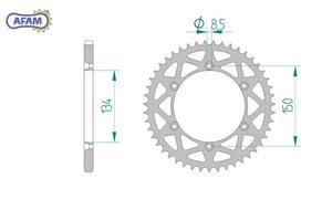 Zębatka AFAM tylna aluminiowa 17206N-53 - 2848055374