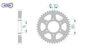 Zębatka AFAM tylna stalowa 14901-48 - 2848055451