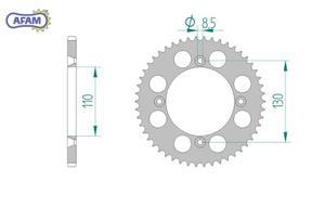 Zębatka AFAM tylna aluminiowa 11104N-49 - 2848055502