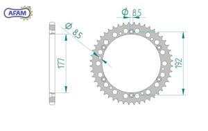 Zębatka AFAM tylna aluminiowa 63300-48 - 2848055539