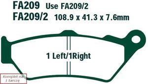 Klocki hamulcowe EBC FA209/2 (kpl. na 1 tarczę) - 2848055955