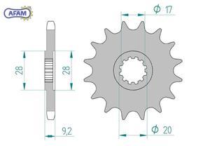 Zębatka AFAM przednia 94121-11 - 2848056156