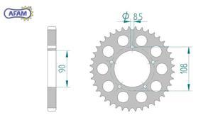 Zębatka AFAM tylna aluminiowa 51600-40 - 2848056978