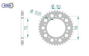 Zębatka AFAM tylna aluminiowa 11509-46