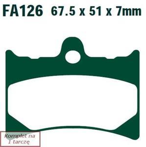 Klocki hamulcowe EBC FA126R (kpl. na 1 tarczę) - 2848057431