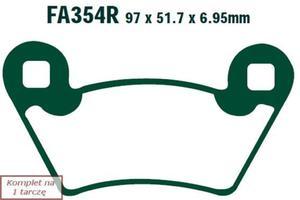 Klocki hamulcowe EBC FA354R (kpl. na 1 tarczę) - 2848057945