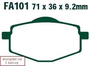 Klocki hamulcowe skuterowe EBC SFA101HH wzmacniane (kpl. na 1 tarczę) - 2848058738