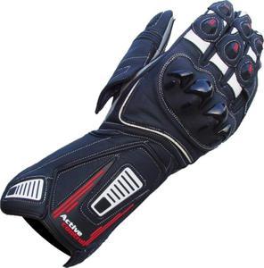 Rękawiczki skórzane Lookwell Active Control czarne - 2848058771