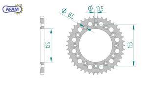 Zębatka AFAM tylna aluminiowa 11317-41 PS - 2848058885