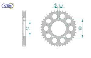 Zębatka AFAM tylna aluminiowa 15404-47 - 2848058919