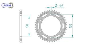 Zębatka AFAM tylna stalowa 10501-50 - 2848058953