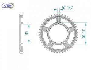 Zębatka AFAM tylna stalowa 164800-45 - 2848059000