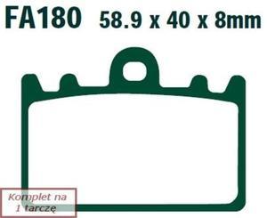 Klocki hamulcowe EBC FA180 (kpl. na 1 tarczę) - 2848061219