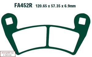 Klocki hamulcowe EBC FA452R (kpl. na 1 tarczę) - 2848062184