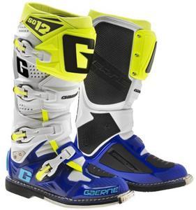 Buty motocyklowe GAERNE SG-12 biało-niebieskie-żółte fluo 43 - 2848062567