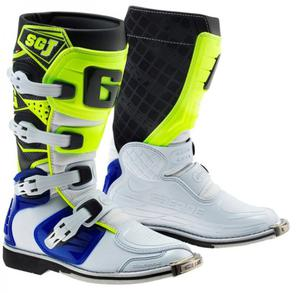Buty motocyklowe GAERNE SG-J biało-niebieskie-żółte fluo 38 - 2848065446