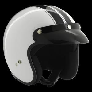 Kask motocyklowy ROCC Classic Dekor biało-czarny - 2848066716