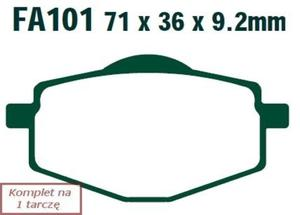 Klocki hamulcowe skuterowe EBC SFA101 (kpl. na 1 tarczę) - 2848069519