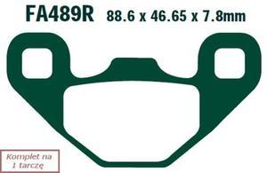 Klocki hamulcowe EBC FA489R (kpl. na 1 tarczę) - 2848070644