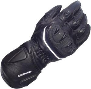 Rękawiczki skórzane Lookwell Ultra-R SPS czarne - 2848075807