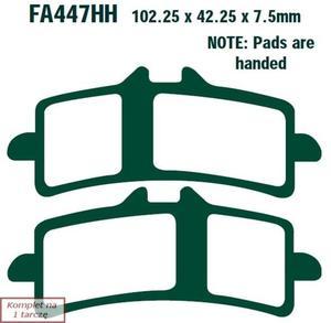 Klocki hamulcowe EBC GPFAX447HH na tor (kpl. na 1 tarczę) - 2848077073