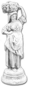 Figura betonowa kobieta z koszem owoców - 2822822908