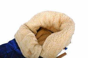 Pokrowiec na sanki dziecięce siedzisko do sanek 40x75cm niebieskie - 2822824337