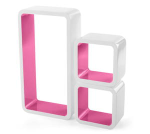 Sklep Półki Hexagon Białe Sześciokąty 3 Szt