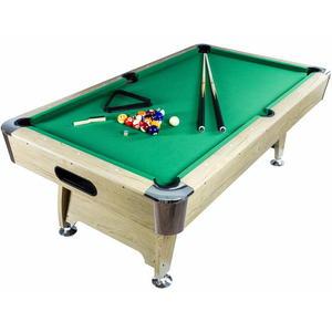 Stół bilardowy jasny 8ft Premium sukno zielone akcesoria bilardowe - 2822825485