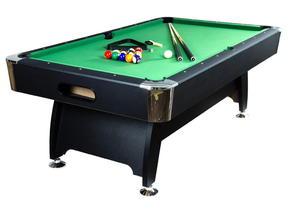 Stół bilardowy czarny 7ft Premium sukno zielone akcesoria bilardowe - 2822825486