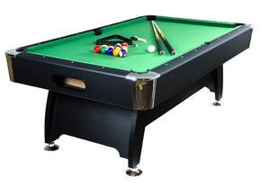 Stół bilardowy czarny 8ft Premium sukno zielone akcesoria bilardowe - 2822825487