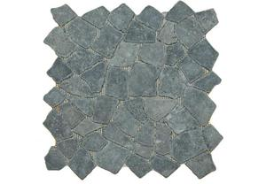 Mozaika kamienna brukowa - Mozaika z szarych kamieni - 30x30cm - 2822827796