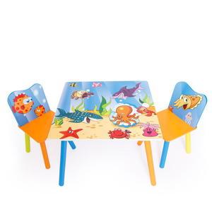 Zestaw mebli dziecięcych - Stolik + 2 krzesła meble dla dzieci POD WODĄ - 2822828426