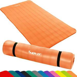 Pomarańczowa mata do ćwiczeń, jogi, masażu 190 x 100 cm MOVIT