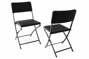 Składane krzesło ogrodowe - Krzesła balkonowe 2szt.