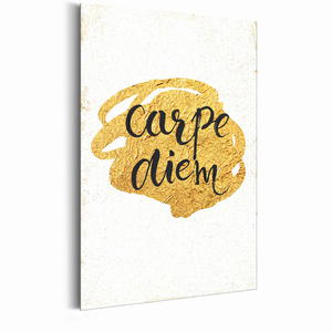 Plakat metalowy - Mój dom: Carpe Diem [Allplate] - 2855373170
