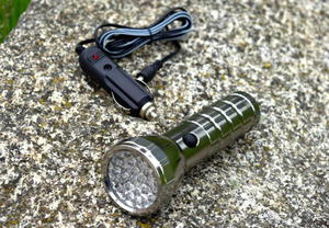 Latarka kempingowa, turystyczna diodowa - 28 LED + ładowarka samochodowa - 2822821025