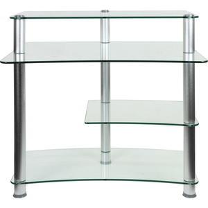 Szklane biurko aluminiowe do komputera - 2822821581