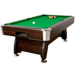 Stół bilardowy brązowy 8ft sukno zielone akcesoria bilardowe - 2822821794